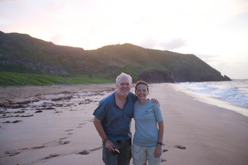 Steve and Kimberly on St. Kitts.