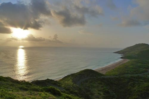 Sunrise on St. Kitts.